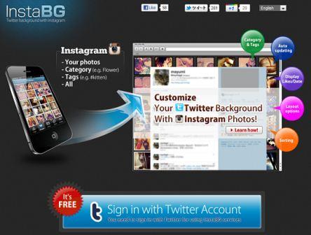InstaBG - создаем динамический фон для твиттера из любых фотографий
