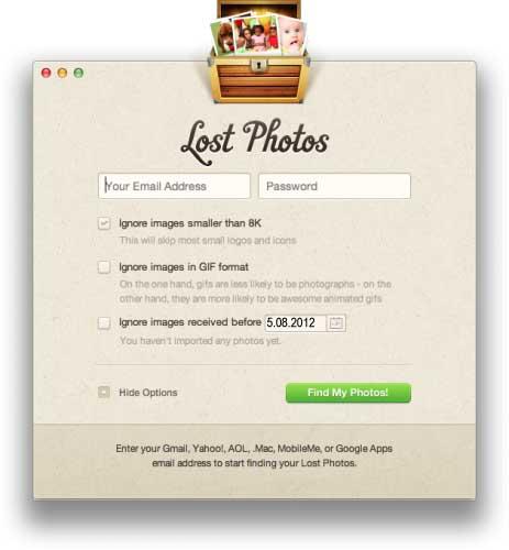 lostphotosapp.com как извлечь фотографии из почтового ящика