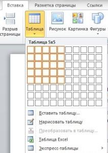 Как быстро сделать таблицу в word. Как создать таблицу в ворде