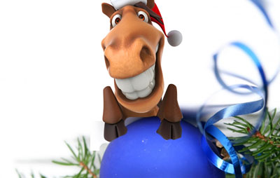 С новым годом лошади 2014 4