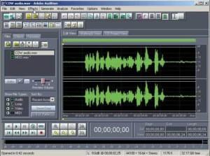 Соединение музыки программой Adobe Audition