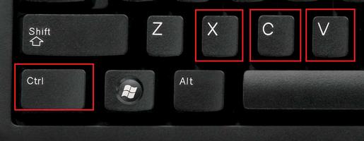 Горячие клавиши перемещения текста в ворде